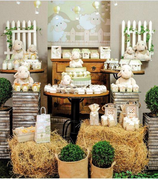 Chá de beb u00ea ovelhinha inspirações para a sua festa Chá de Beb u00ea EuNenem com -> Decoração De Quarto De Bebê Ovelhinhas
